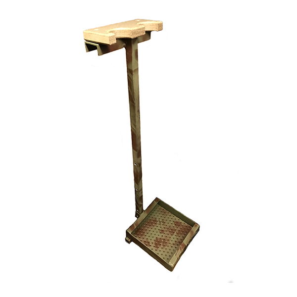 olive-brown gun stand- WHITE BACK